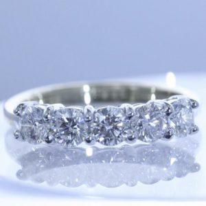 bespoke diamond and latinum ring from Guy Wakeling Jewellery