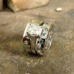 Guy Wakleing Jewellery platinum rings.