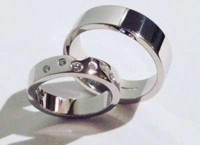 Wedding rings handmade by guy wakeling jewellery