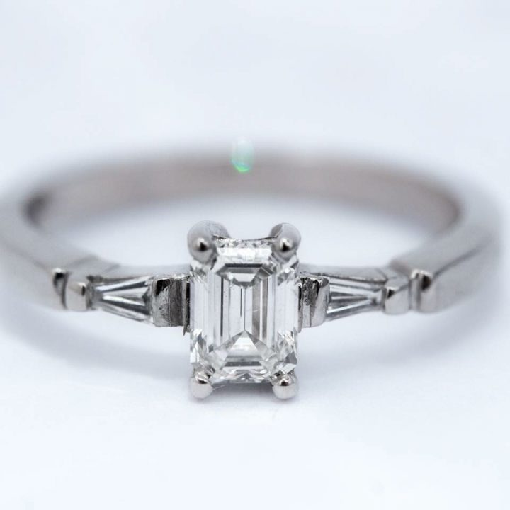diamond and platinum bespoke ring from Guy Wakleing Jewellery