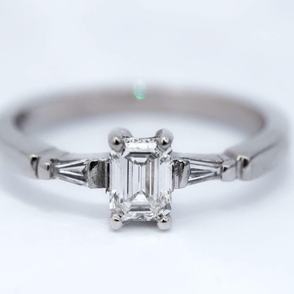 diamond and platinum bespoke ring from Guy Wakleing Jewellery