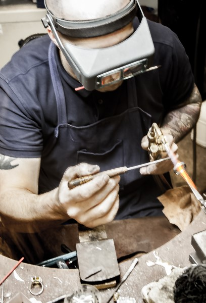 Guy Wakeling designing bespoke wedding jewellery