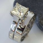 Matching wedding and engagement ring from Guy Wakeling Jewellery