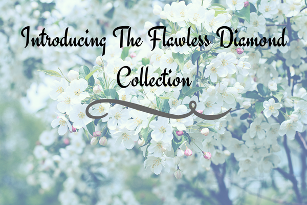Blog title graphic to introduce the flawless diamond collection