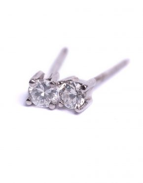 18ct White Gold, Diamond earrings, brilliant cut diamond earrings, diamond earrings, 18ct white gold earrings,