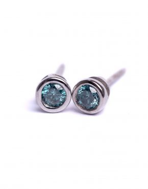 Blue Diamonds, Blue Diamond Earrings