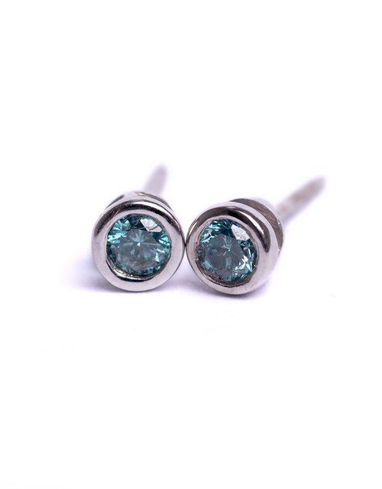 Blue Diamonds, Blue Diamond Earrings
