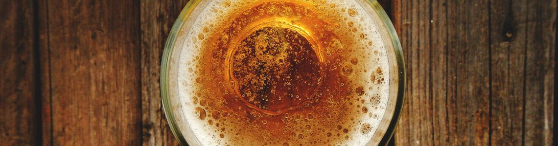 glass of beer for cleaning gold jewellery