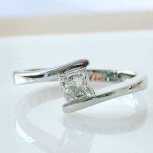 Princess Cut Diamond, Bespoke Engagement Ring, White Gold Princess Cut Ring, Princess Cut Diamond