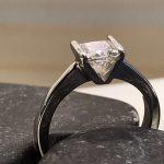 Bespoke. Princess Cut Engagement Ring, Platinum Engagement Ring, Princess Çut Engagement Ring