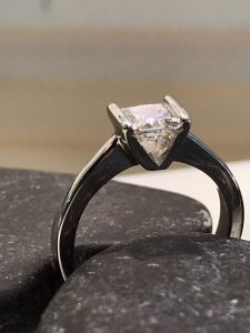 Bespoke. Princess Cut Engagement Ring, Platinum Engagement Ring, Princess Çut Engagement Ring