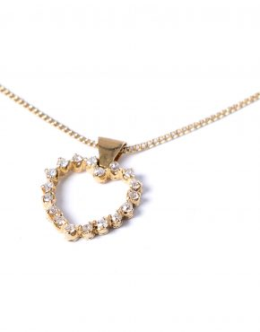 Diamond 18ct Gold Heart Pendant
