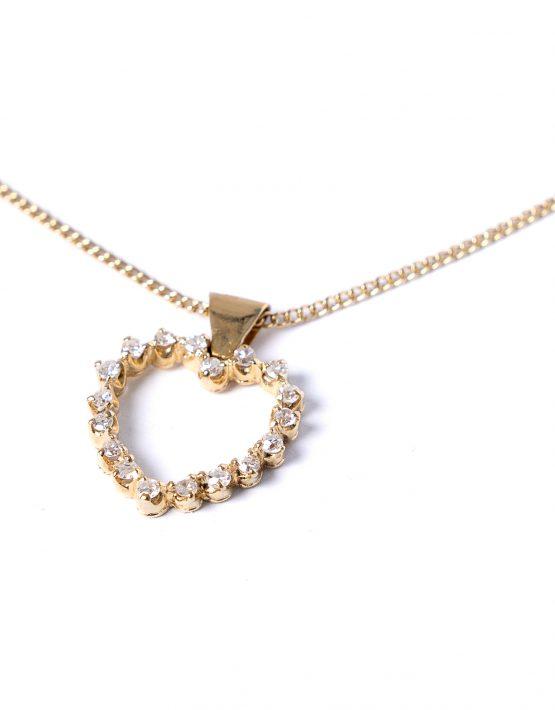 Diamond 18ct Gold Heart Pendant