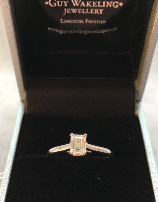 Flawless Diamond, Emerald Cut Diamond, Emerald Cut, Platinum Diamond Ring, Engagement Ring