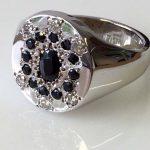 Remodel. White Gold, Sapphire, Mans Ring, Mens Ring, Diamond Ring for men