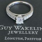 Platinum Diamond Ring, Diamond Shoulders, Princess Cut Diamond, Engagement Ring, Bespoke Engagement Ring