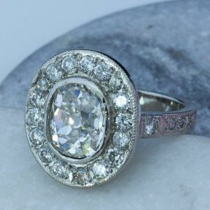 Diamond ring, halo engagement ring