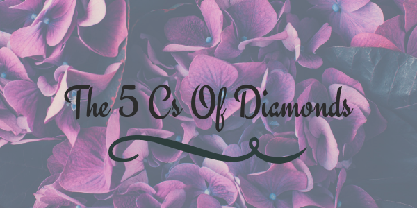 the 5 cs of diamonds title graphic