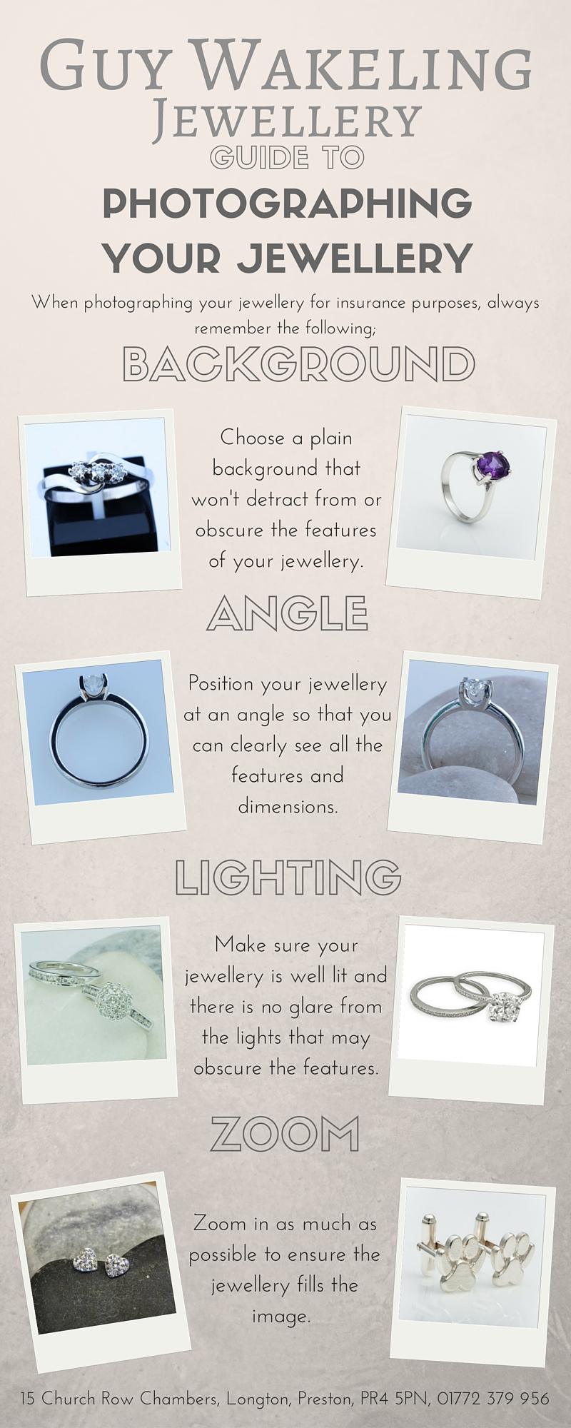 Photographing Jewellery Infographic