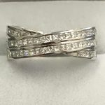 18ct White Gold Eternity Ring, Princess Cut Eternity Ring, Handmade Eternity Ring, Eternity Ring, Jewellers Preston, Jewellers Lancashire