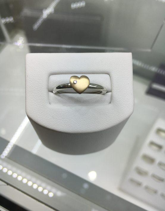 Heart Ring, Heart Diamond Ring, Bespoke Heart Ring, Bespoke Ring