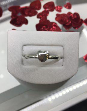 Heart Ring, Silver Ring, Handmade Silver Heart Ring, Valentines Ring