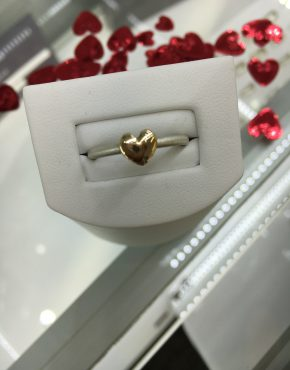Heart Ring, Yellow Gold Heart Ring