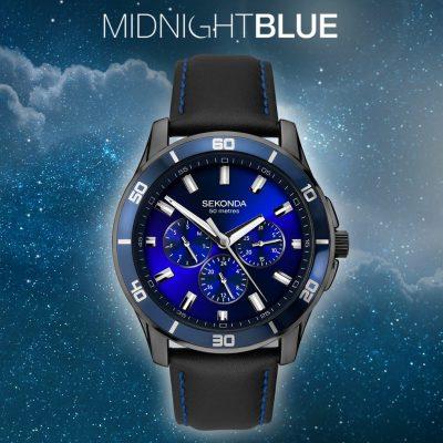 Midnight blue seksy watch