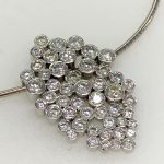 remodel of diamond pendant - 35 diamonds with rub over
